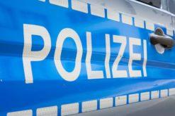 German Polizei Car Label Badge Police Blue Silver Reflective Saf